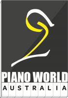 陈氏钢琴行 Glen Waverley 店 Australia Piano World Company Logo