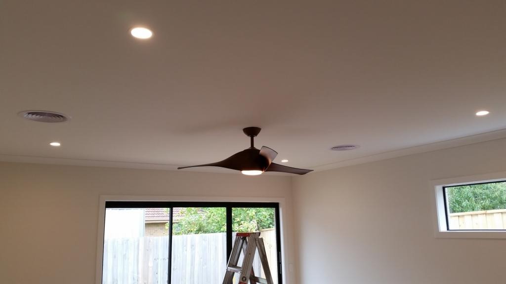 LED Downlights and Ceiling Fan installation