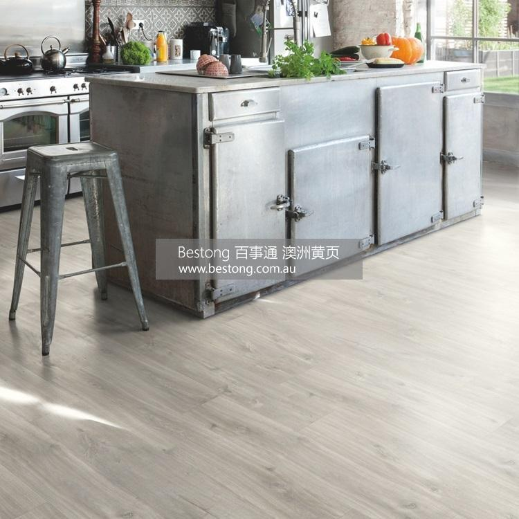 【图片 19】   Light grey Balance Click Vinyl Canyon oak grey with saw cuts